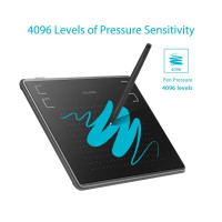 Графичен таблет HUION Inspiroy H430P  USB Черен