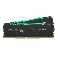 Памет Kingston HyperX Fury RGB 16GB(2x8GB) DDR4 PC4-21300 2666Mhz CL16 HX426C16FB3AK2/16