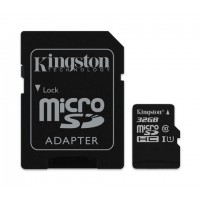 Kingston Карта памет microSDHC 32GB Class 10 UHS-I с адаптер SD