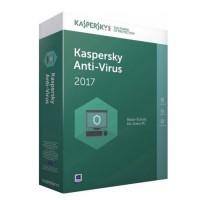 Програмен продукт с лицензен стикер Kaspersky AntiVirus 2017 - 1 лиценз 1година + 3 месеца подарък Box