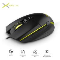 Геймърска мишка Delux M522BU SPCP-6653B USB 6400dpi 7btn black