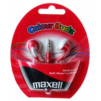 Слушалки тапи MAXELL color BUDS червени