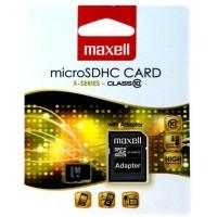 Флаш карта 64GB MAXELL  SD XC Micro с преходник CL10