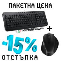 Kомплект клавиатура+мишка Delux OM-02U+M517BU