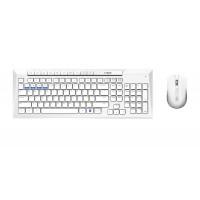 Комплект клавиатура и мишка RAPOO 8200M Multi mode Bluetooth &2.4Ghz Безжичен Бял