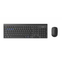Комплект клавиатура и мишка RAPOO 8100M Multi mode Bluetooth&2.4Ghz безжични черни