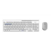 Комплект клавиатура и мишка RAPOO 8100M Multi mode Bluetooth&2.4Ghz безжични бели