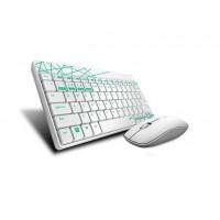 Комплект клавиатура и мишка RAPOO 8000M Multi mode Bluetooth&2.4Ghz безжични бели