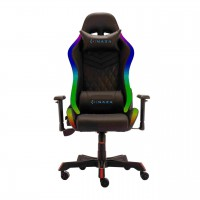 RGB геймърски стол Inaza Rainbow RBW01-BK