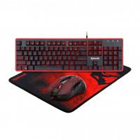Геймърски комплект Redragon - клавиатура мишка и подложка S107
