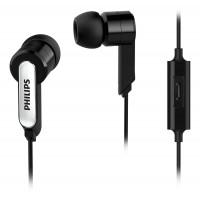 Слушалки Philips SHE1405BK с микрофон за поставяне в ушите черен