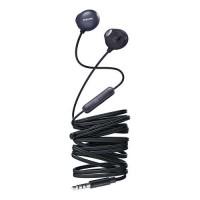 Слушалки с микрофон Philips за поставяне в ушите, черен цвят