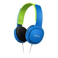 Детски слушалки Philips подсилен дизайн меки наушници ултра лека лента за глава син/зелен