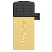 Флаш памет Transcend 16GB JetFlash 380 USB On-The-Go for ANDROID, Gold Plating