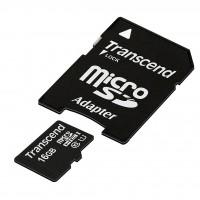 Флаш карта Transcend 16GB micro SDHC UHS-I Premium (with adapter, Class 10)