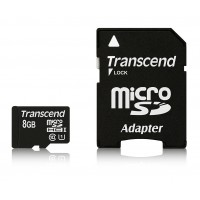 Памет Transcend 8GB micro SDHC UHS-I Premium (with adapter, Class 10)
