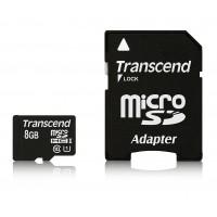 Флаш карта Transcend 8GB micro SDHC UHS-I Premium (with adapter, Class 10)