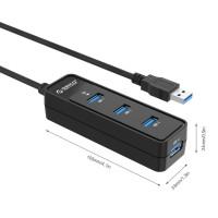 Хъб Orico W5PH4-U3 Black USB3.0 4 порта