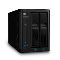 NAS устройство WD MyCloud PR2100 2-bay 2xGigabit + 2xUSB 3.0 (up to 16TB) 0TB WDBBCL0000NBK