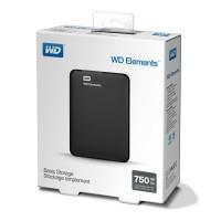 Външен HDD WD 750GB Elements Black