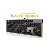 Клавиатура A4tech KV-300H X-струк.,2 USB порт