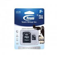 Флаш карта памет  microSD Team 8GB class 10 адаптер