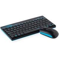 Безжичен комплект клавиатура с мишка RAPOO 8000, blue
