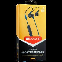 Слушалки с микрофон Canyon CNS-SBTHS1BL Bluetooth sport blue