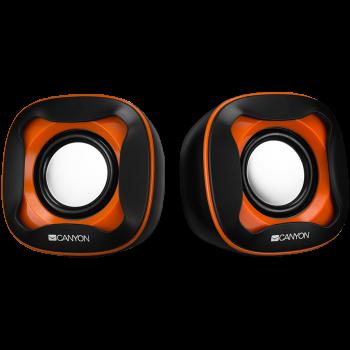 Тонколони Canyon CNS-CSP202B USB 2.0 black +orange